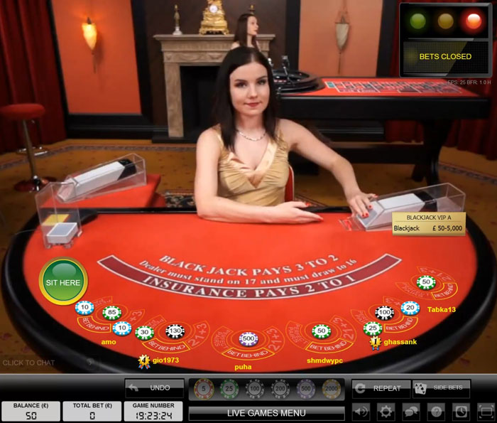 Evolution Gaming Live VIP High Roller Blackjack Bets Closed Waiting To Deal